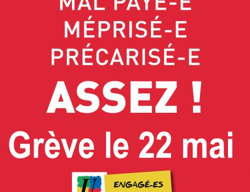 Grève le 22 Mai 2018 en Meuse